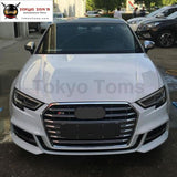 A3 S3 Racing Grills Abs Chrome Frame Grille For Audi Front Bumper 2017