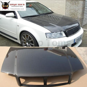 A4 B6 Carbon Fiber Car Engine Hood Cover Vents For Audi Body Kit 02-05