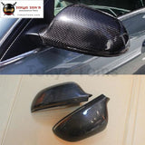 A4 B8 Carbon Fiber Side Mirror Covers Mask For Audi Car Body Kit 13-15 Free Shipping
