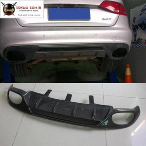A4 B8 Sline Carbon Fiber Rear Bumper Diffuser Car Bumper Lip For Audi S-Line 09-12