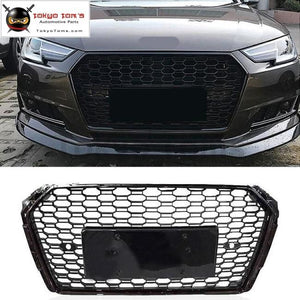 A4 Rs4 Racing Grills Abs Car Front Bumper Honeycomb Grille For Audi S4 Sline Sedan 17-18
