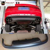 A5 Coupe Sportback S5 Style Pp Rear Bumper Diffuser For Audi Car Bumper Lip 12-16