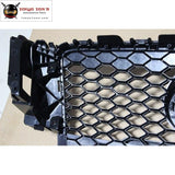 A5 Rs5 Racing Grills Car Styling All Black Honeycomb Front Mesh Grill Grille For Audi S5 Sline Front