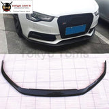 A5 S5 Carbon Fiber Front Bumper Lip Diffuser For Audi Car Body Kit 12-16