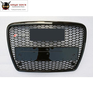 A6 Rs6 Racing Grills All Black Abs Front Bumper Honeycomb Grille For Audi S6 09-12