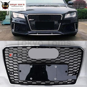 A7 Rs7 Front Bumper Racing Grills All Black Chrome Frame Front