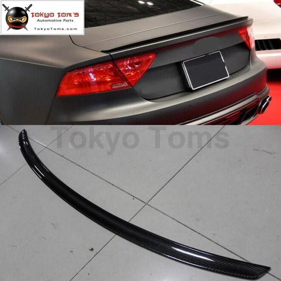 A7 S7 Rs7 Carbon Fiber Rear Trunk Spoiler Active Racing Wing Lip For Audi S-Line Wald Style