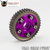 Adj Cam Gear Pulley Timing Fits For Honda Sohc D15 D16 D-Series Engine Purple