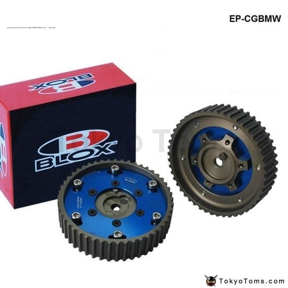 Adjustable 2Piece Aluminium Camshaft Timing Cam Gear Blue For Bmw E36 3 Series M20 Gears