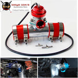 Adjustable 30Psi Blow Off Valve Bov +Type Rs 2.75 Flange Pipe Adapter Kit Black / Blue Silver
