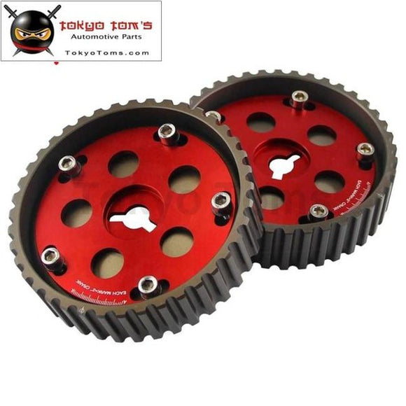 Adjustable Cam Gears & Swift Cam Pulley For Suzuki Swift Gti G13B Red / Black Blue