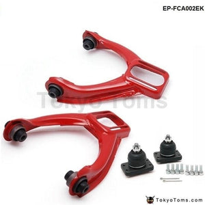 Adjustable Front Upper Control Arms Arm Camber Kit Racing For Honda Civic 96-00 Red Suspensions