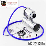 Adjustable Sqv Blow Off Valve Bov Ii 2 + 2.75 70Mm Straight Flange Pipe Black / Silver 01Egh016Dsl
