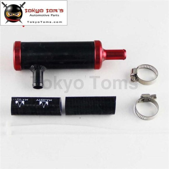 Air-Oil Separator Kit Fits For Toyota Gt86 Scion Frs Brz 13-15 Oil And Gas Black