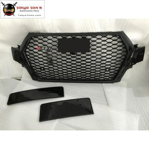 All Black Racing Grills Q7 Rsq7 Style Abs Honeycomb Auto Front Bumper Grill For Audi Sq7 S-Line