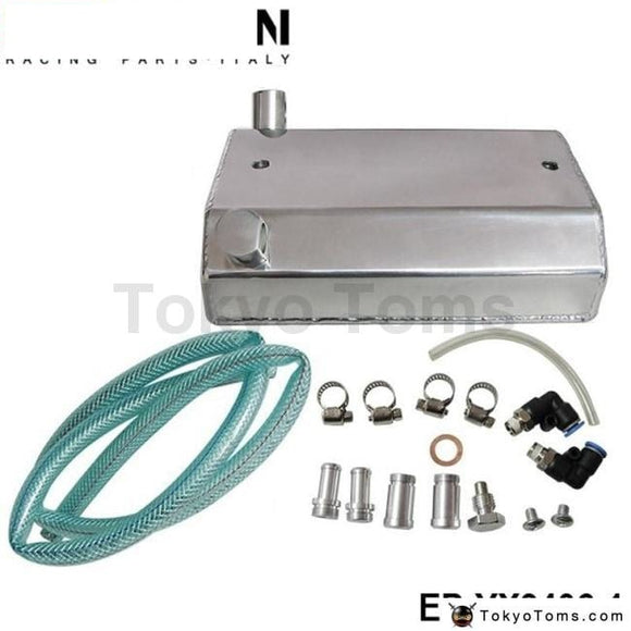 Alloy Aluminium 1L Oil Weilding Catch Can Square Tank Polished Fuel Systems