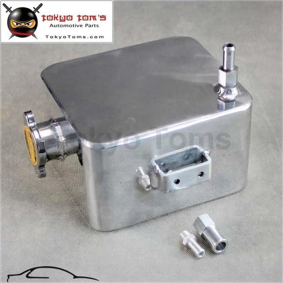 Aluminium Universal 2 Litre Polished Alloy Header Expansion Water Tank & Cap 2L Radiator