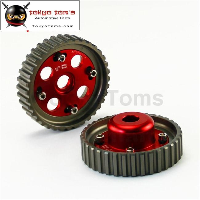 Aluminum Cam Gears Pulley Pair Fits For Toyota Levin 4Age 20V Ae101 Ae111  Red