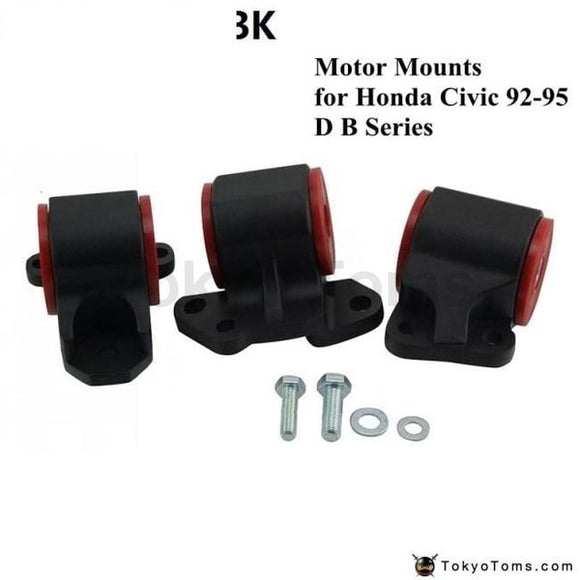 Aluminum Engine Mount Kit Racing Sport Swap Black (2-Bolt Left Mount) For Honda Civic 92-95 Dc2 Eg