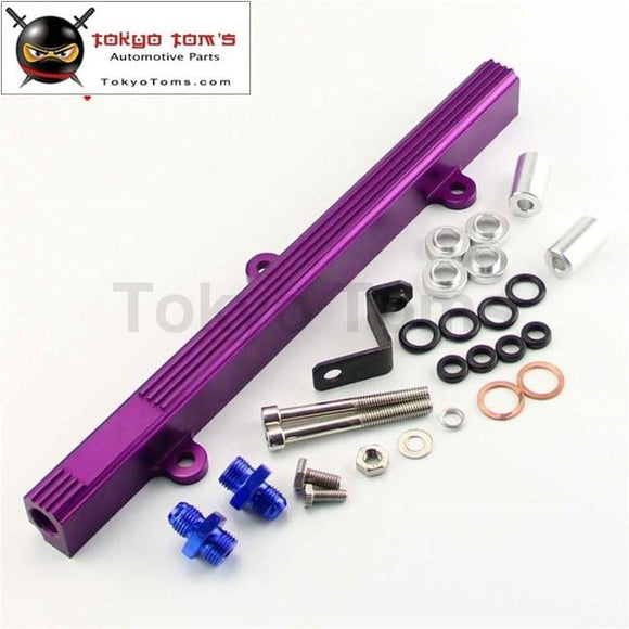 Aluminum Fuel Injector Inject Rail Fits For Mr2 Sw20 Celica St205 Gen3 3S-Gte Purple