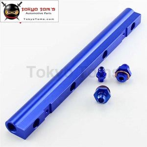 Aluminum High Flow Injector Fuel Rail Kit Fits For Audi Vw 1.8L Turbo 20V Purple/blue