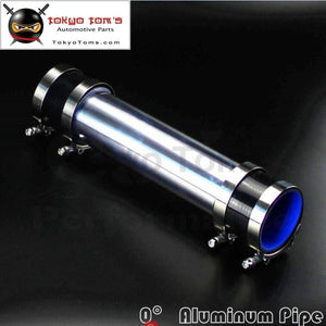 Aluminum Intercooler Turbo Piping Pipe 57Mm 2.25 + Silicone Hose W/ T-Clamps Black / Blue/ Red