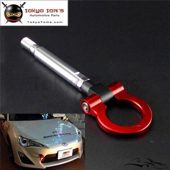 Aluminum Racing Tow Hook Ring Fits For Toyota Gt86 Scion Frs Subaru Brz 13-15 Red