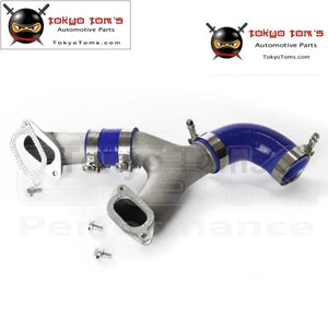 Aluminum Top Mount Intercooler Y-Pipe Kit Fit For 02-07 Subaru Impreza Wrx/for Gd/gg Blue