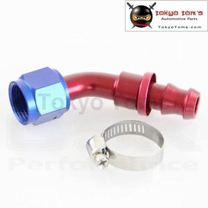 An 10 Size + Push On Oil Fuel Line Hose End Fitting With 45 Degree Turnning
