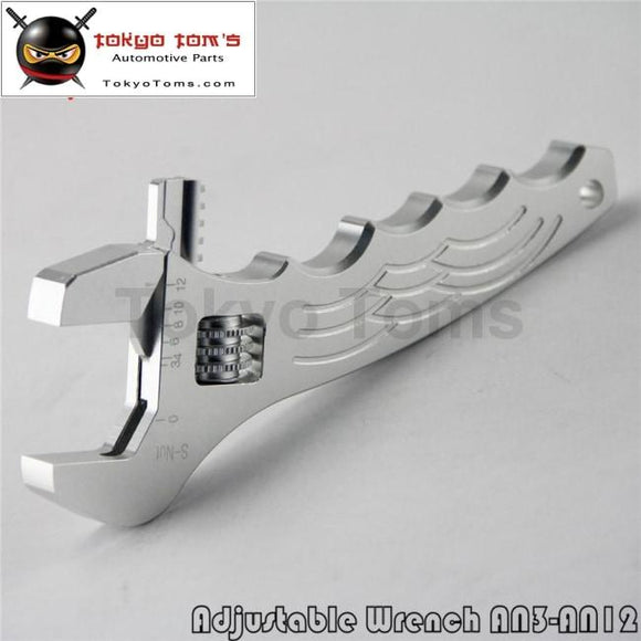 An 3 - 12 Adjustable Aluminum Wrench Fitting Tools Spanner An3 3An-12An Silver