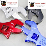 An 3 4 6 8 10 12 Adjustable Aluminum Wrench Fitting Tools Spanner An3 3An - 12An Blue