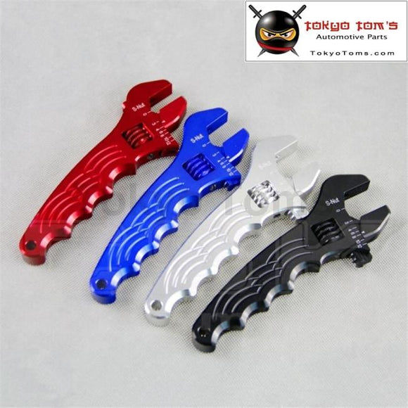 An 3 4 6 8 10 12 Adjustable Aluminum Wrench Fitting Tools Spanner An3 3An - 12An Red