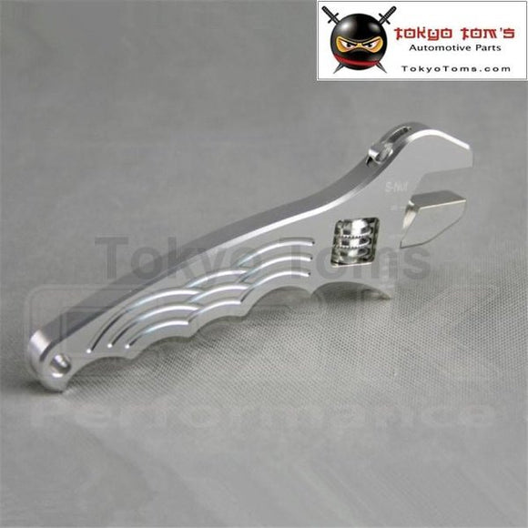 An 3 4 6 8 10 12 Adjustable Aluminum Wrench Fitting Tools Spanner An3 3An - 12An Silver