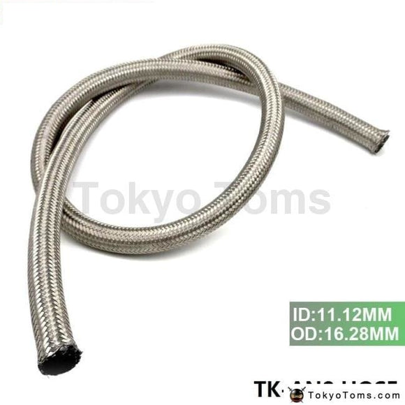 An 8 (Id:11.12Mm Od:16.28Mm )Stainless Steel Braided Fuel Line Oil Gas Hose Each 1M 3.3Ft Tk-An8