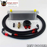 An-8An 13 Row Engine Oil Cooler + 3/4*16 & M20 Filter Adapter Hose Kit