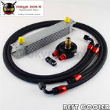 An-8An 7 Row Universal Filter Adapter Oil Cooler Nylon Braided Line Kit