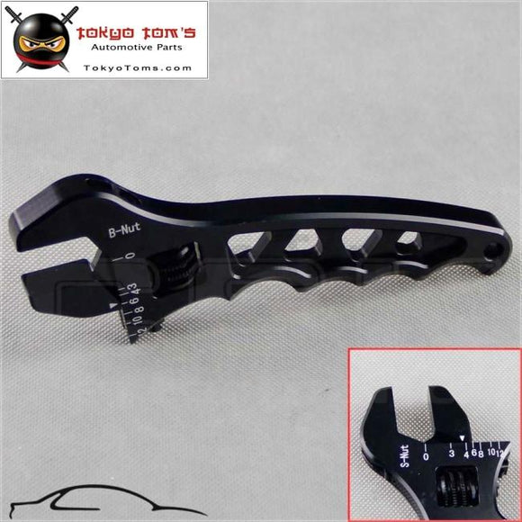 An Adjustable Aluminum Anodized Wrench Fitting Tools Spanner An3 3An-12An Black