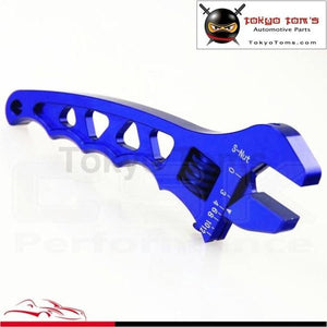 An Adjustable Aluminum Anodized Wrench Fitting Tools Spanner An3 3An-12An Blue