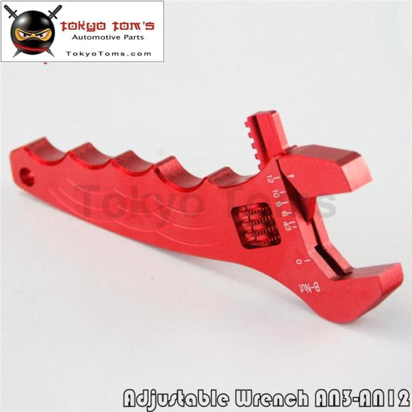 An Adjustable Aluminum Anodized Wrench Fitting Tools Spanner An3 - An12