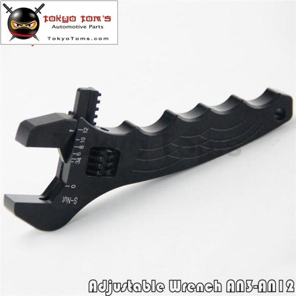 An Adjustable Aluminum Black Wrench Fitting Tools Spanner An3 3An-12An Racing