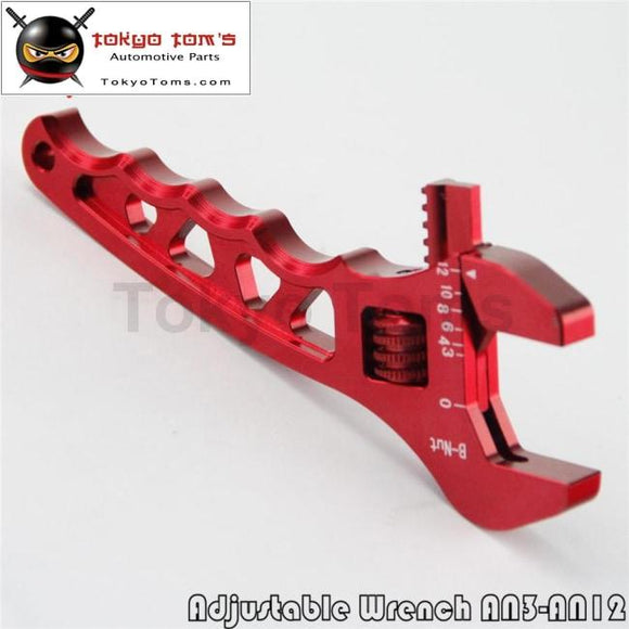 An Adjustable Aluminum Wrench Fitting Tools Spanner An3 3An-12An Red