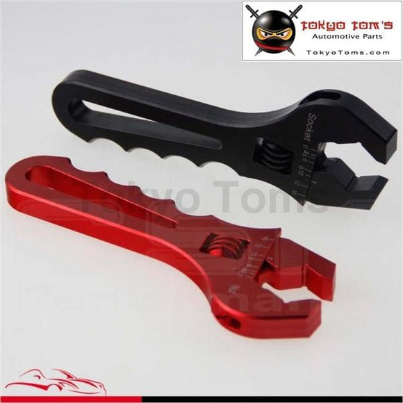 An An3 3An-16An V Bayonet Wrench Spanner Fitting Tools Adjustable Aluminum Black / Red
