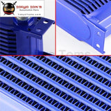 An10 10 Row Aluminum Engine Transmission Oil Cooler Radiator British Style Blue