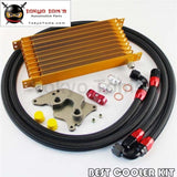 An10 10 Row Engine Trust Oil Cooler Kit For Bmw Mini Cooper S R56 Turbo 06-12