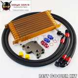 An10 10 Row Trust Oil Cooler Kit For Bmw Mini Cooper S R53 Supercharger Gold