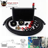 An10 13 Row 262Mm Universal Engine Oil Cooler Trust Type+M20Xp1.5 / 3/4 X 16 Filter Relocation+5M