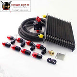 An10 15 Row 262Mm Universal Engine Oil Cooler Trust Type+M20Xp1.5 / 3/4 X 16 Filter Relocation+5M