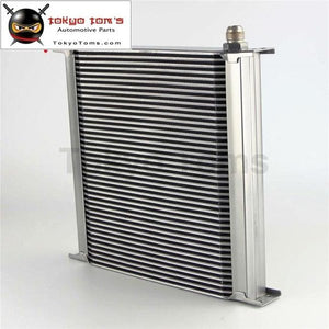An10 40 Row Aluminum Engine Transmission Oil Cooler Radiator British Style Silver