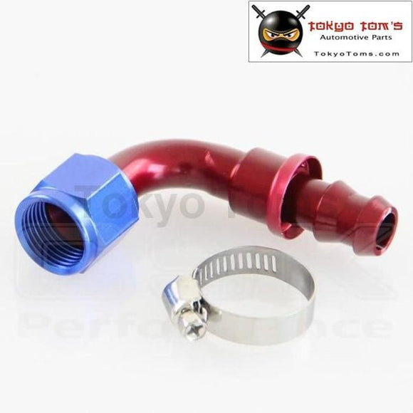 An10 90 Degree Push On Oil Fuel Line Hose End Fitting (An10-90)