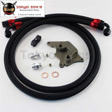 An10 Filter Sandwich Adapter+Nylon Braided Or Ss Oil Line Fits For Bmw Mini Cooper S Supercharger